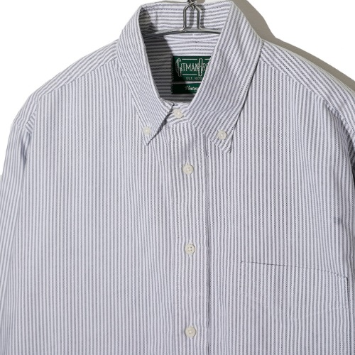 [Gitman Vintage] Oxford Shirt  (Grey Stripe)