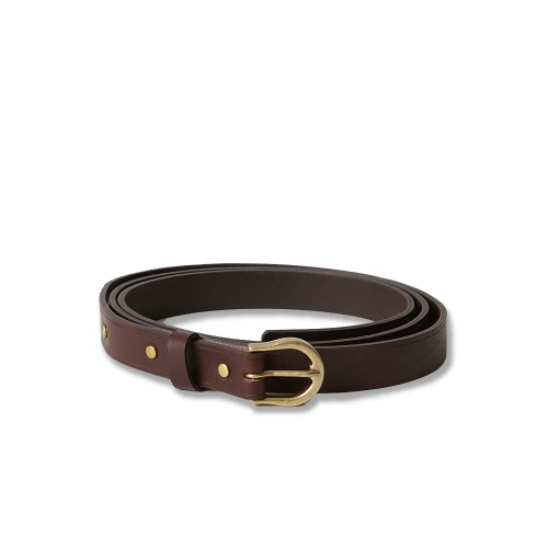[YOUTH] Long Leather Belt (Brown)