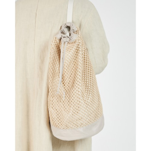 [YOUTH] Knit Hunting Bag (Ivory)