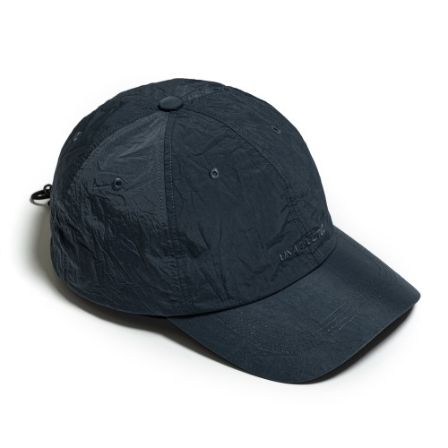 [UNAFFECTED] Logo Drawstring Ball Cap (Charcoal Blue)