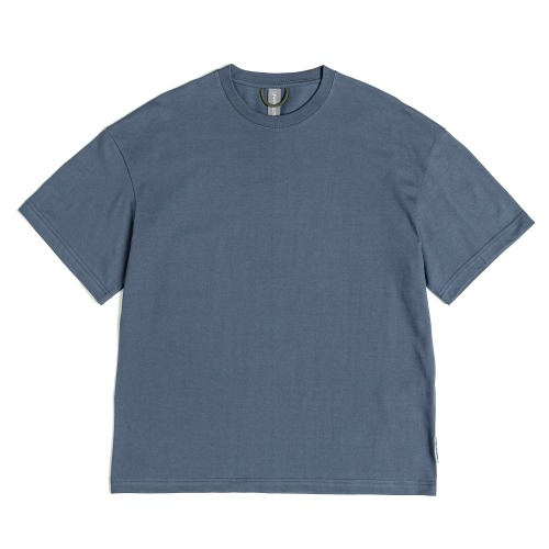 [UNAFFECTED] Logo Patch T-Shirt (Charcoal Blue)