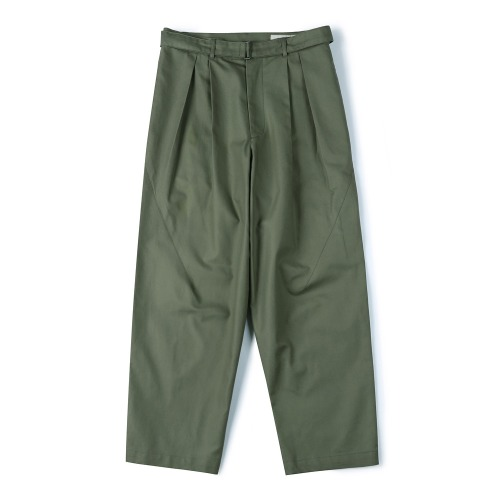 [SHIRTER] Belted Pleats Jar Pants (Khaki)