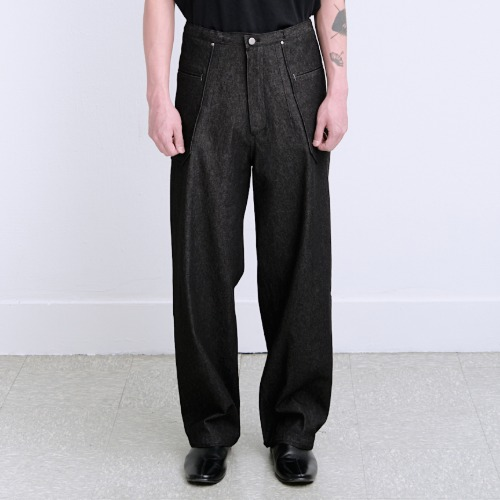 [polyteru] Liso Pants (Black)