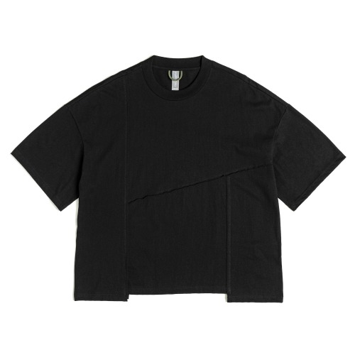 [UNAFFECTED] Contrast Stitch T-Shirt (Black)