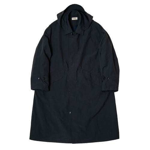 [rough side] Drizzle Coat (Navy)