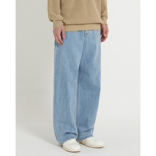 [YOUTH] Wide Denim Pants (Light Blue)