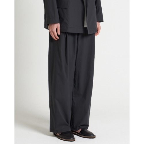 [YOUTH] Structured Wide Pants (Black)
