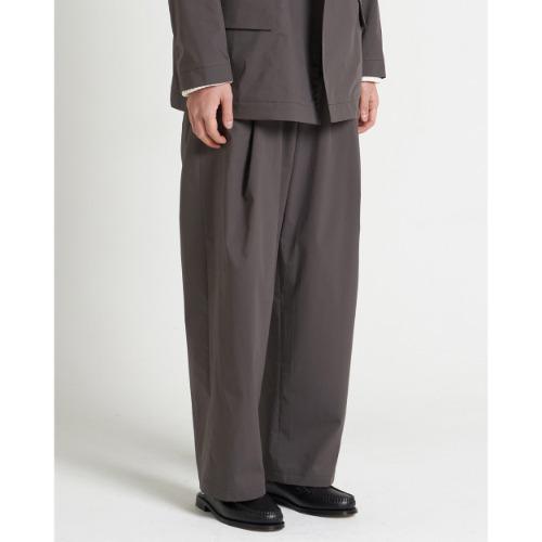 [YOUTH] Structured Wide Pants (Brown)