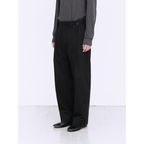 [polyteru] Curved Soh Pants (Black)