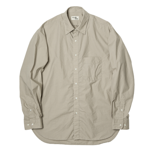 [rough side] Shirring Shirt (Humus)