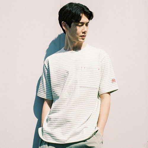[HORLISUN] Union Short Sleeve Pocket T-shirts SU Seasonal (Mint)