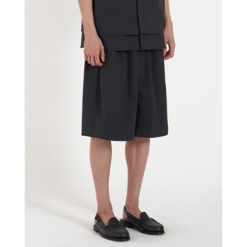 [YOUTH] Wide String Half Pants (Black)
