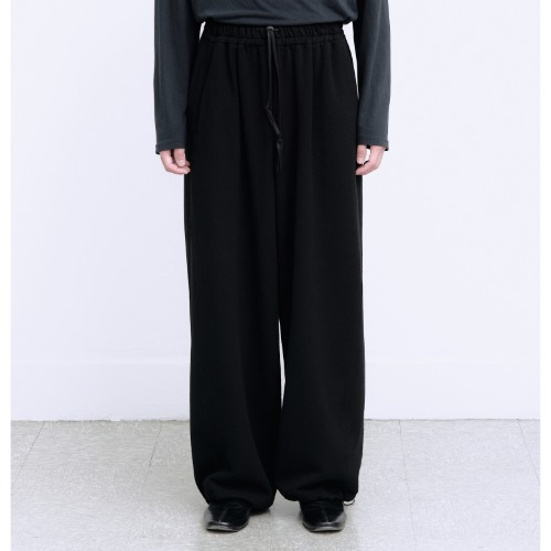 [polyteru] Wide Sweat Pants (Black)
