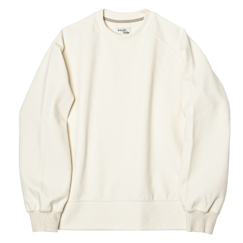 [rough side] Raglan Sweat Shirt (Ivory)