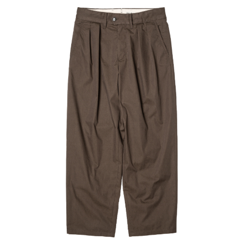 [rough side] 2-Tuck Wide Pants (Chocolate)