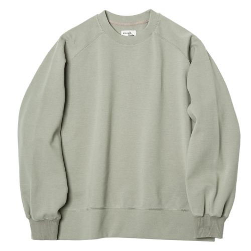 [rough side] Raglan Sweat Shirt (Sage)